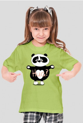 Panda Hug Girl's T-shirt green