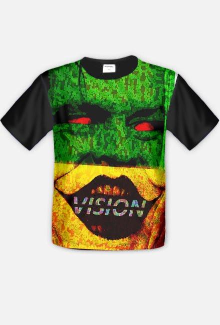 Kolorowy Uśmiech Męska Koszulka Fullprint