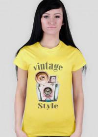 Koszulka damska fotograficzna Vintage style