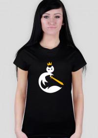Czarna damska koszulka ze starym logo (małe)