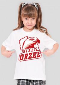 Koszulka patriotyczna dziewczęca Biały Orzeł