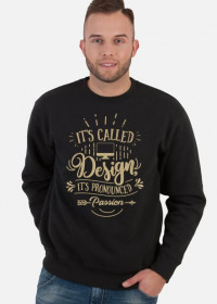 WO. Hoodie - Design is passion - Graphic Design GOLD