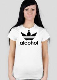 alcohol jak adidas White Women T-Shirt