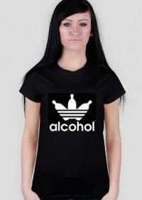alcohol jak adidas Black Women T-Shirt