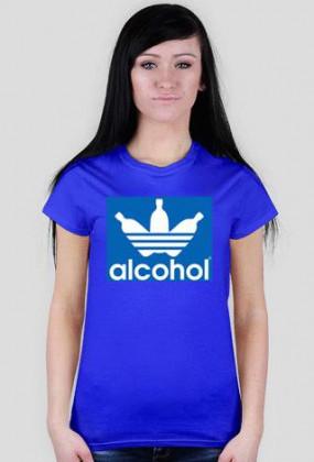 alcohol jak adidas Blue Women T-Shirt