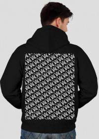 Pattern zip hoodie