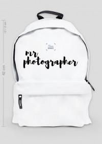 "Plecak duży ""Mr Photographer"" (BIAŁY)"