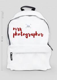 """Plecak duży """"Mrs Photographer"""" (BIAŁY)"""