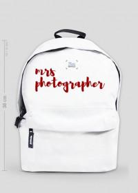"""Plecak mały """"Mrs Photographer"""" (BIAŁY)"""