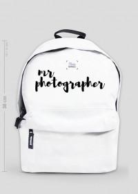 """Plecak mały """"Mr Photographer"""" (BIAŁY)"""