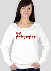 "Bluza damska ""Mrs photographer"" (BIAŁA)"