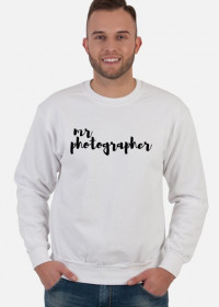 "Bluza męska ""Mr Photographer"" (BIAŁA)"