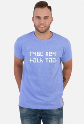 FUCK YOU - Śmieszna koszulka z ukrytym napisem (Męska)
