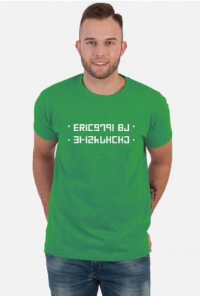 SPIE*DALAJ - Śmieszna koszulka z ukrytym napisem (Szyfr) (Męska)
