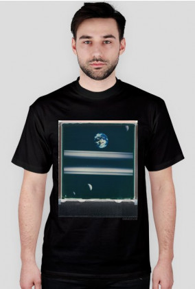 Saturn Moons T-Shirt/ black