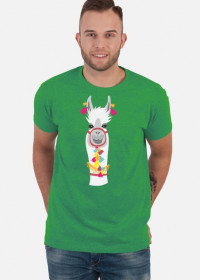 biała lama koszulka męska 2