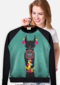 czarna lama bluza fullprint damska