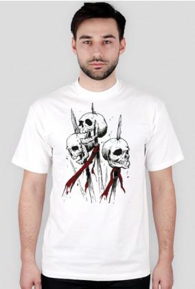 Skulls on a piles