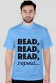 T-shirt męski Read, read, read, repeat...