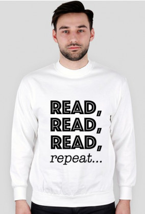 Bluza męska Read, read, read, repeat...