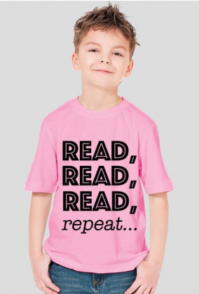 Koszulka chłopięca Reda, read, read, repeat...