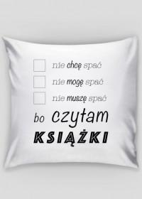 Poduszka Nie śpię bo czytam