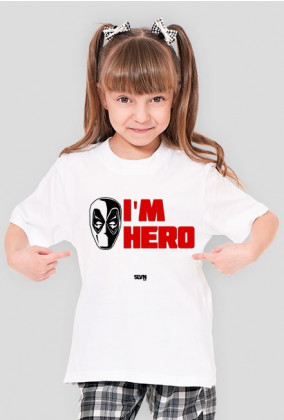 Deadpool I'm Hero Koszulka dziewczęca 2
