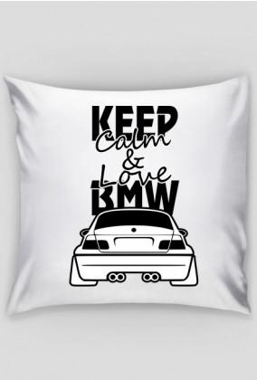 M3 E46 - Keep Calm and Love BMW (poszewka) ciemna grafika