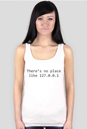 Koszulka damska prezent dla informatyka programisty na mikołajki pod choinkę, na urodziny  - There's no place like