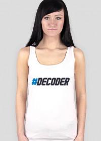Koszulka damska prezent dla informatyka programisty na mikołajki pod choinkę, na urodziny  - Decoder