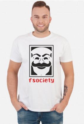 Koszulka męska prezent dla informatyka programisty na mikołajki pod choinkę, na urodziny  - FSOCIETY