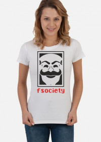 Koszulka damska prezent dla informatyka programisty na mikołajki pod choinkę, na urodziny  - FSOCIETY