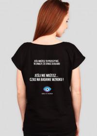 Koszulka damska czarna - jeśli możesz to przeczytać