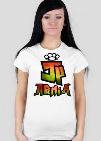 Koszulka JP Armia | Zielono-Żółta | Damska