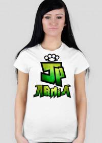 Koszulka JP Armia | Zielona | Damska