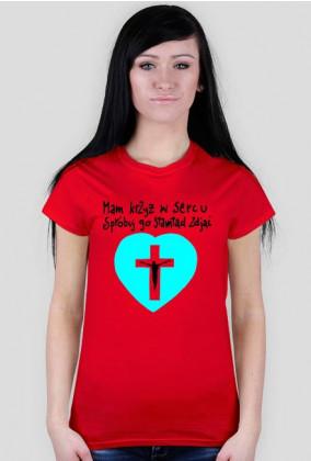 Mam krzyż w sercu [seledynowym] dla pań