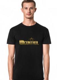 Gold Uncontrol - koszulka - czarna-slim
