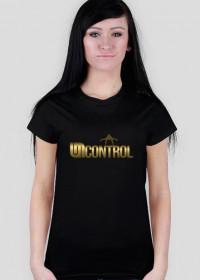 Gold Uncontrol - koszulka - czarna