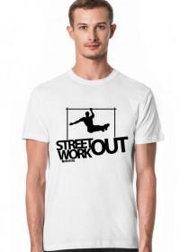 Street Workout BAR  - koszulka - biała