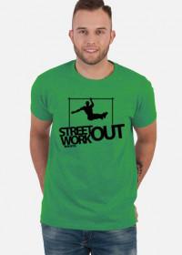 Street Workout BAR - koszulka - zielona