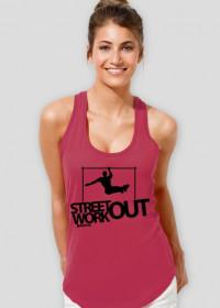 Street Workout BAR - koszulka - różowa