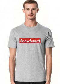 Snowboard Tshirt Męski (Różne kolory!)