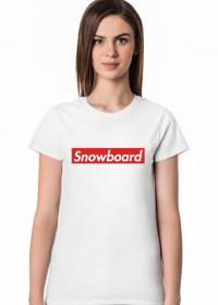 Snowboard Tshirt Damski (Różne kolory!)