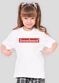 Snowboard Tshirt dla dziewczynki (Różne kolory!)