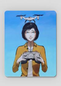 Drone girl - podkładka pod myszkę
