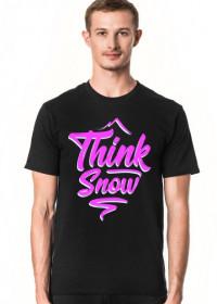 Think snow koszulka męska (różne kolory!)
