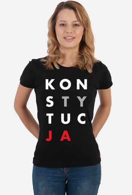 Damska Koszulka Konstytucja Czarna