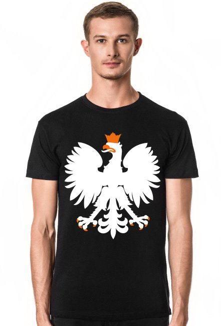 Męska Koszulka Orzeł Czarna