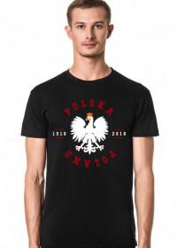 Męska Koszulka Polska 1918 Czarna
