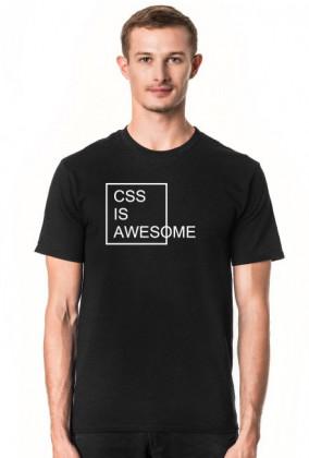 Koszulka męska idealna na prezent dla informatyka programisty na urodziny lub mikołajki - CSS is Awesome
